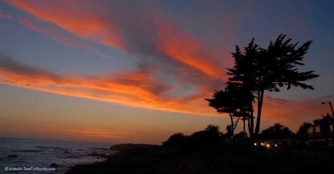 cambria, california sunset